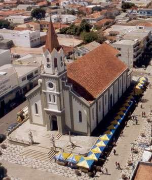 A primeira construção da igreja data de 1708 e ao longo da história passou por várias reformas e ampliações