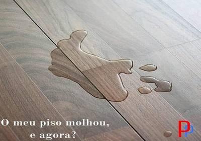 Dica para o Lar - O meu piso molhou. E agora?