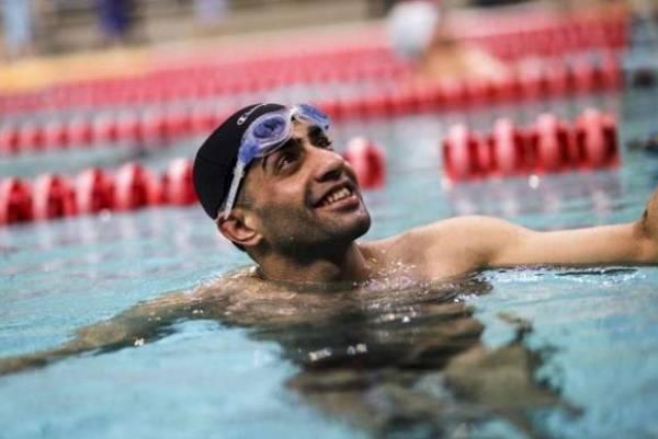 O atleta refugiado sírio Ibrahim Al- Hussein vai competir nos 50 e 100 metros nado livre na classe S10. Foto: Divulgação/Acnur