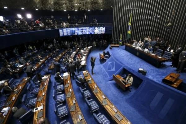 Sessão de julgamento do impeachment da presidenta afastada Dilma Rousseff no Senado. Foto: Marcelo Camargo/Agência Brasil