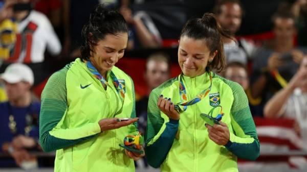 Ágatha e Bárbara, Medalha de Prata no Vôlei de Praia, nos Jogos Olímpicos Rio 2016.Rio de Janeiro, 18/08/2016.Foto: Alaor Filho/Exemplus/COB.