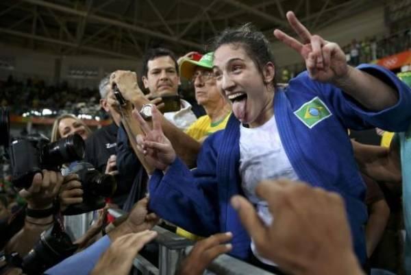 Mayra Aguiar ganhou sua segunda medalha de bronze em Olimpíadas. Foto: Reuters/Toru Hanai/Direitos Reservados