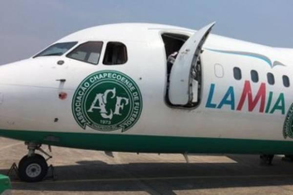 Avião da empresa boliviana Lamia, fretado pela Chapecoense para transportar sua equipe. Foto: Divulgação/ Cleberson Silva/ Chapecoense