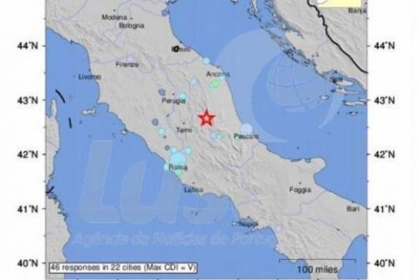 Novos tremores de terra atingem o centro da Itália - Divulgação/Agência Lusa