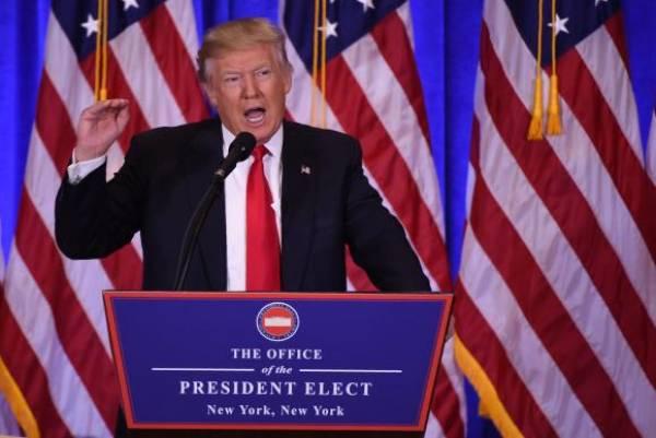 O presidente eleito dos Estados Unidos, Donald Trump,durante entrevista à imprensa. Foto: Don Emmert/AFP/Direitos Reservados