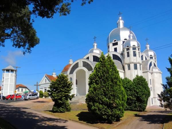 A Igreja Ucraniana Santíssima Trindade está localizada na Rua Vereador Domingos Benvenuto Moletta, na Colônia Marcelino (Foto: Edison Renato/PMSJP)