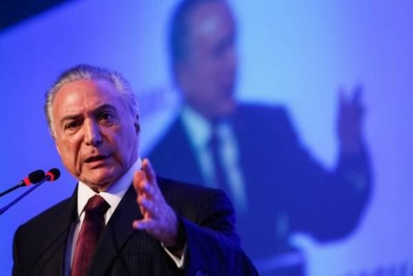Presidente Michel Temer participa de cerimônia na Câmara Americana de Comércio, em São PauloBeto Barata/PR