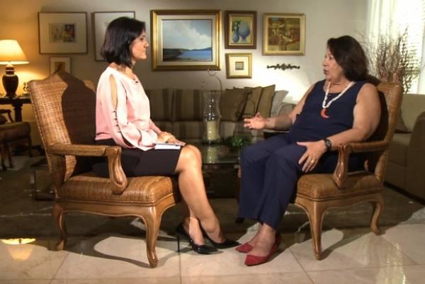 A jornalista Roseann Kennedy entrevista a juíza Eliana Calmon - TV Brasil/DivulgaçãoTV Brasil/Divulgação