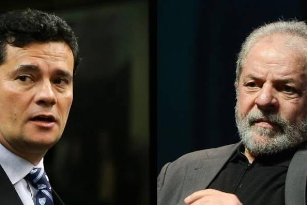 Sérgio Moro e o ex-presidente Lula. Foto: Arquivo/Agência Brasil