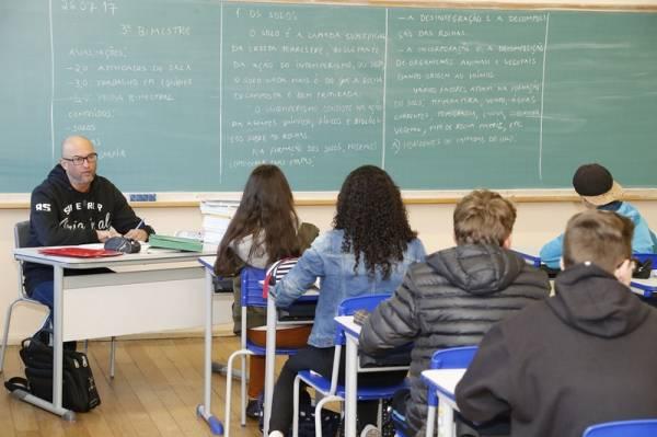 Secretaria de Estado da Educação do Paraná, Volta as aulas no Colégio Estadual Rio Branco no bairro batel. 26-07-17. Foto: Hedeson Alves/SEED
