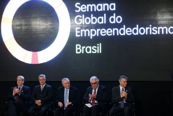 O presidente Michel Temer participa da abertura da Semana Global do Empreendedorismo 2017, na sede do Sebrae Nacional, em Brasília. Foto: Marcelo Camargo/Agência Brasil