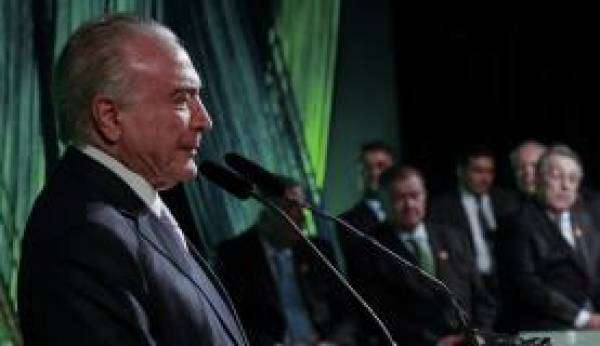 Temer discursa na cerimônia de posse da Diretoria-Executiva da Confederação da Agricultura e Pecuária do Brasil (Marcos Corrêa/PR)