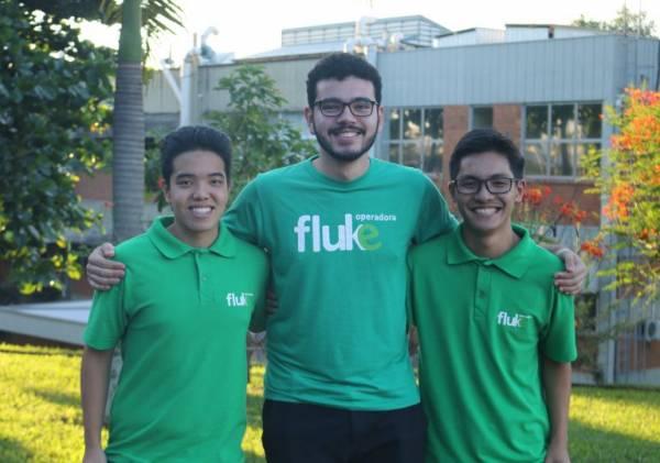 Yuki, Marcos e Matheus (Da esquerda para a direita) estudam na USP em São Carlos e ajudaram a criar a Fluke