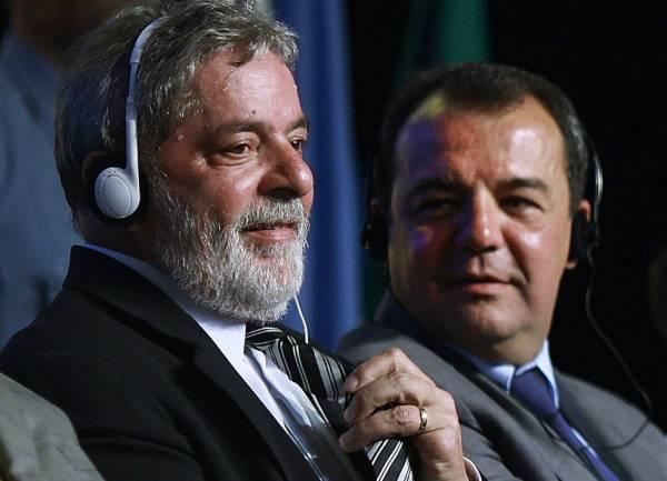 Ex-presidente Lula e ex-governador Sérgio Cabral na escolha do Rio como sede das olimpíadas de 2016 (Foto: Divulgação / Ricardo Stuckert )