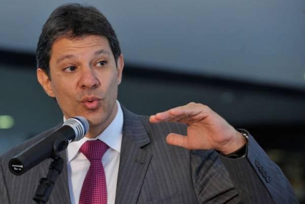 Nome do ex-prefeito Fernando Haddad foi confirmado no fim da noite de domingo  - /Arquivo/Agência Brasil