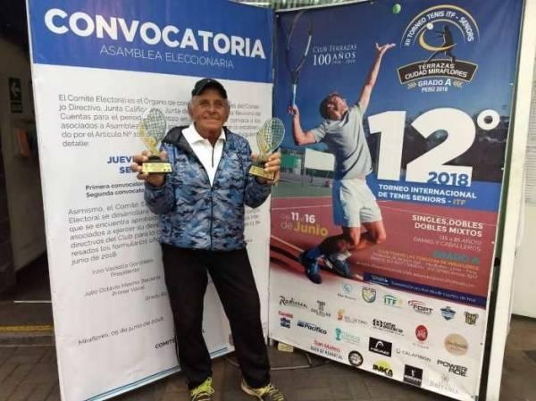 Registro da vitória no torneio no Peru (foto: Arquivo pessoal)
