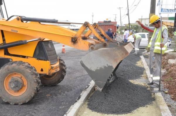 Via Marginal do Posto Túlio, às margens do Contorno Leste está em fase de conclusão (Foto: Ademar Marques/PMSJP)