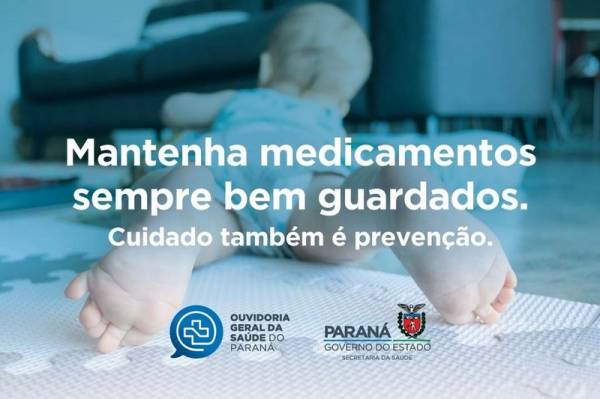 Sesa alerta para prevenção do envenenamento infantil . Imagem:SESA